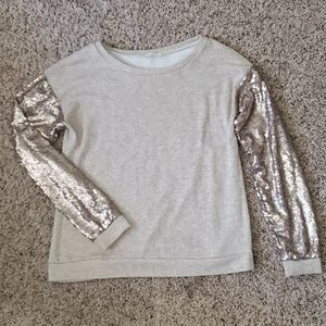 Sequened Sleeved Sweater